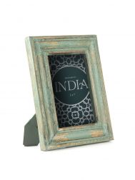 Distressed Sky Blue Picture Frame