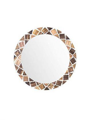 White Imperial Wall Mirror