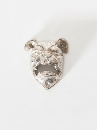 Silver Bulldog Metal Bottle Opener