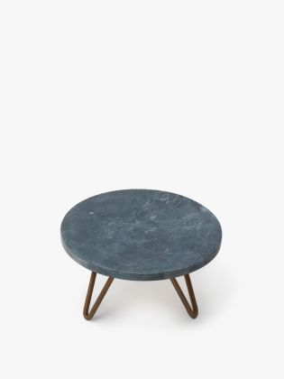 Gold Stripe Grey Marble Cake Stand - Gold