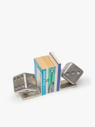 Gambling Dice Metal Bookends