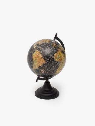 Black Sylvan Rotating Globe