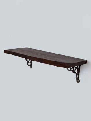 Dark Wood Sheesham Wall Shelf