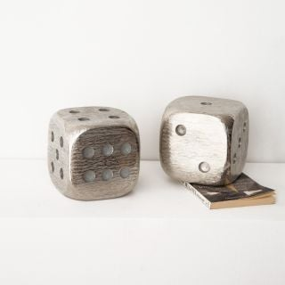 Dice Metal Bookends