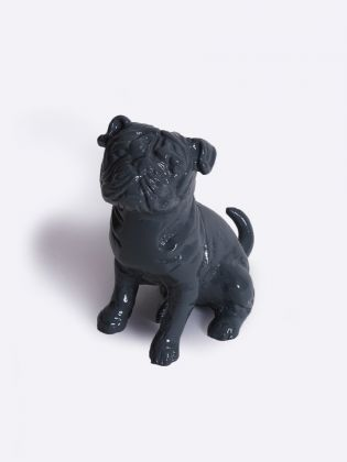 Junior Pug Figurine - Grey