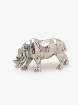 Snouty Metal Rhino Sculpture