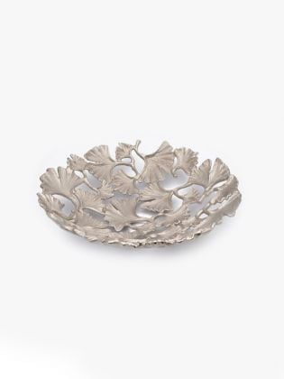 Entangled Silver Leaves Tray - Big