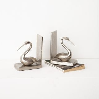Love Pair Aluminum Bookends