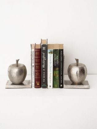 Adam`s Apple Metal Bookends