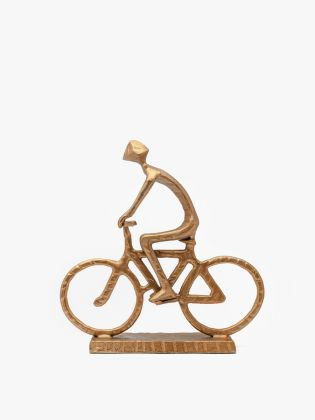Bicycle Cyclist Metal Sculpture