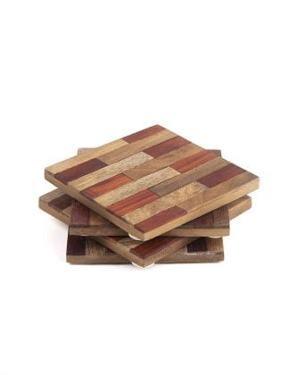 Brown Brick Wooden Coasters