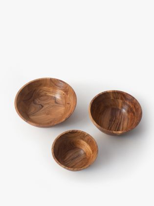 Country Meadow Wooden Bowl - Set of 3