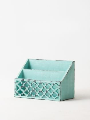 Distressed Imperial Blue Letter Sorter