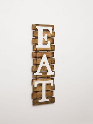 EAT PLANK WALL ART