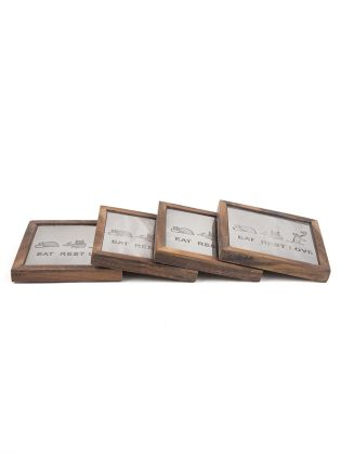 Eat Rest Love Frame Coasters