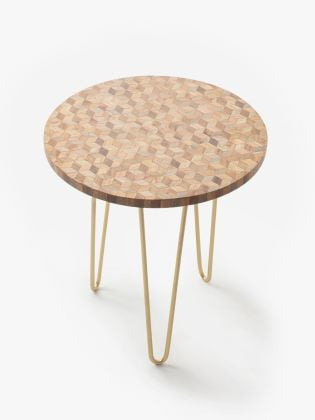 Evergreen Checkerboard Accent Table