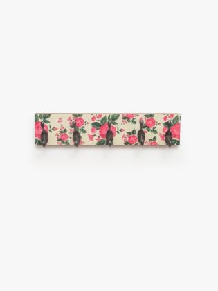 Floral Fervor Black Hooks on Board