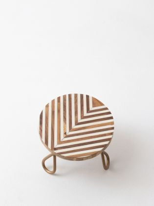 Geometric Addiction Cake Stand - Golden