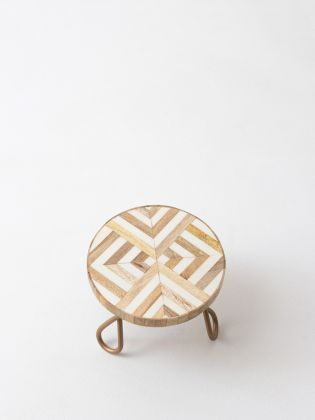 Geometrix Art Cake Stand - Golden