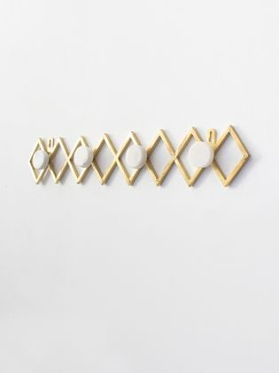 Golden Geomatrix Wall Hook Chain