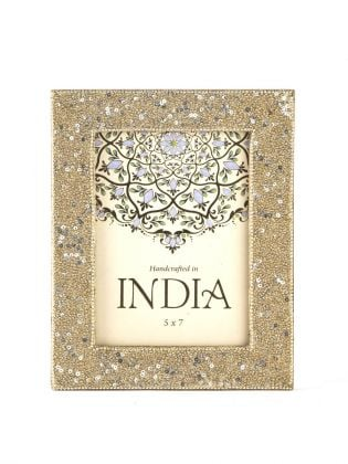Golden Glitter Sequins Photo Frame