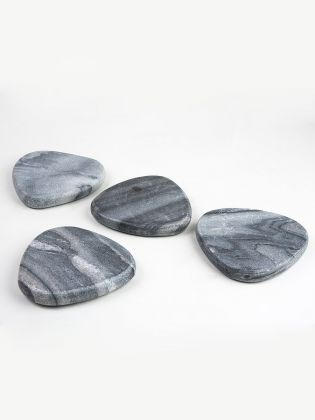 Grey Pebble Coasters