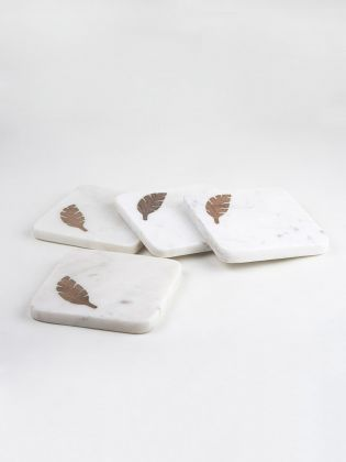 Marble Feather Coasters