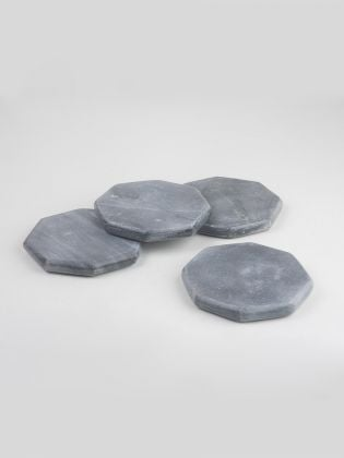 Midnight Grey Octagon Coasters