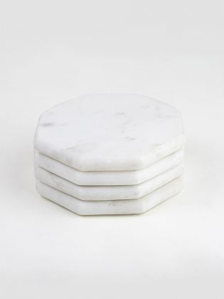Natural White Marble Coasters