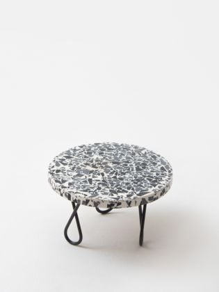 Rainbow Speckled Cake Stand - Black