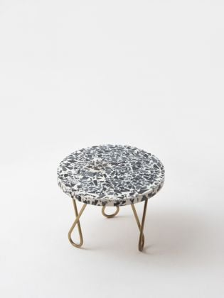 Rainbow Speckled Cake Stand - Golden