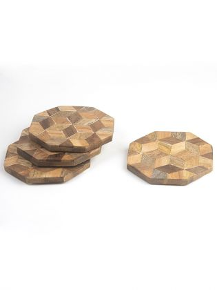 Rhombus Design Octagon Coasters