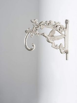 Silver Bird Handcrafted Metal Wall Bracket - Set of 2