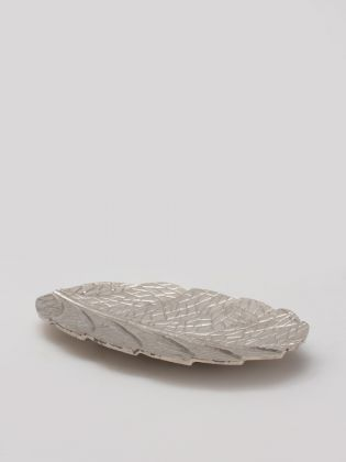Silver Leaf Serving Tray