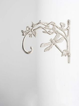 Silver Shade Dragonfly Handcrafted Wall Bracket - Set of 2