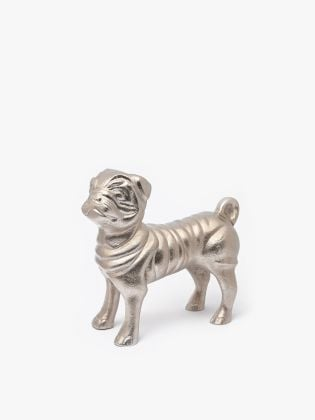 The Rich Pug Metal Figurine
