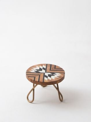 Tribal Souk Cake Stand - Golden