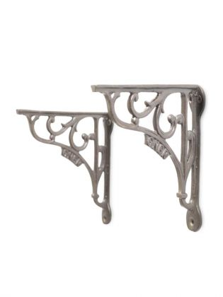 Vintage Baroque Wall Brackets - Silver