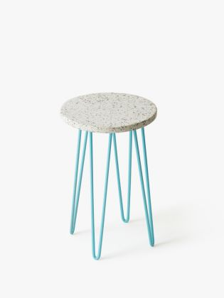 Speckled Stone Plant Stand - Blue
