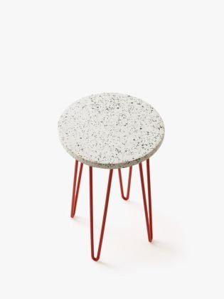 Speckled Stone Plant Stand - Red