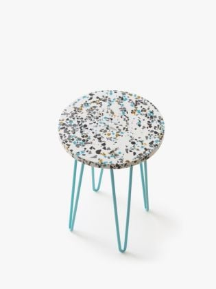 Speckled Rainbow Plant Stand - Blue