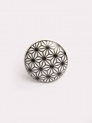 Weave Dot Ceramic Knob-Set of 6