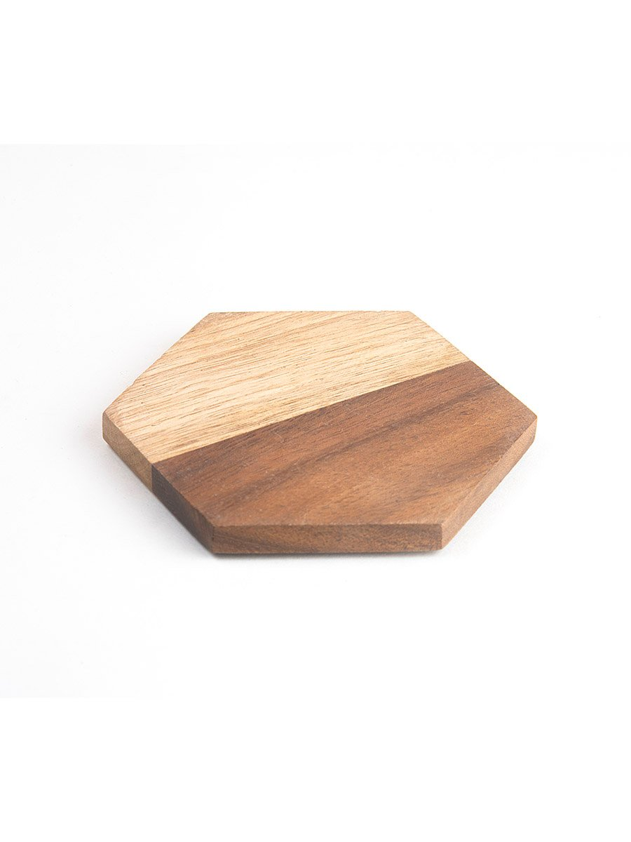 Color Block Wooden Coasters