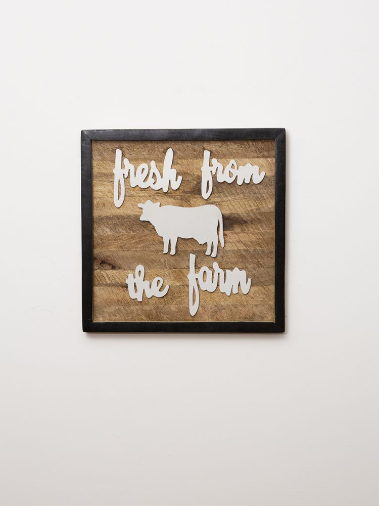 Farm Fresh Typography Wall Panel
